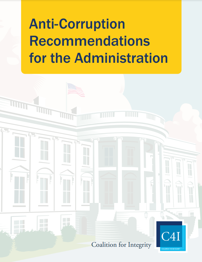"Cover of the C4I's new report, ""Anti-Corruption Recommendations for the Administration."" Click to read."